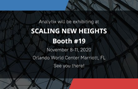 Analytix to Exhibit at Scaling New Heights 2020 from November 8-11, 2020 – Orlando