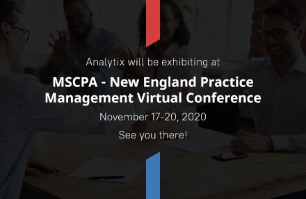 Analytix to Exhibit at the MSCPA – New England Practice Management Virtual Conference 2020 (November 17-20, 2020)